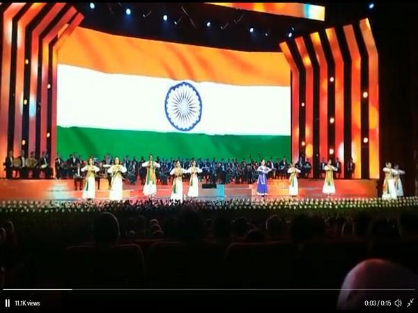 Visual of group performing Kathak at the SCO's gala concert in Tajikistan (Picture Courtsey Minister of External Affairs S Jaishankar Twitter Handle)