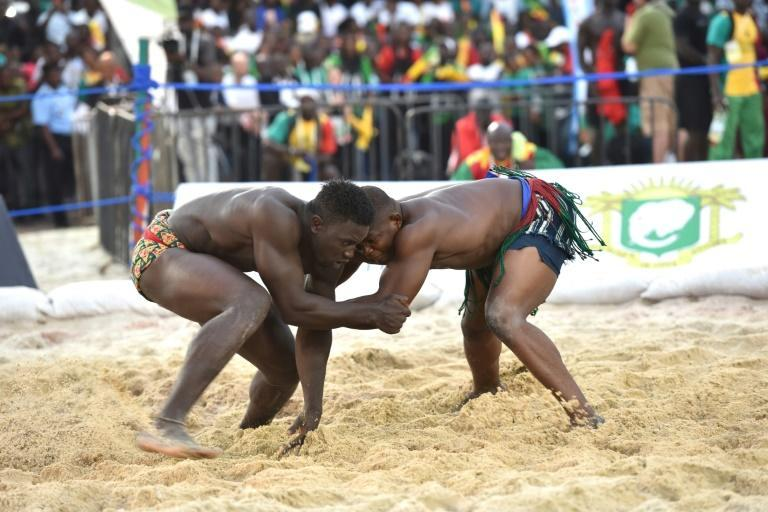 Senegal wrestlers are well known in Francophone Africa