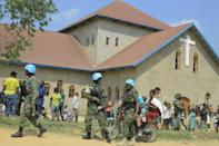 UN peacekeepers were sent to the scene after the blast