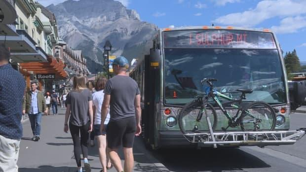 Two of Banff's Roam Public Transit routes will be participating in a reservation pilot project this summer. (Anis Heydari/CBC - image credit)