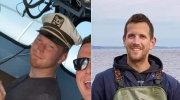 Joey Jenkins, left, and Marc Russell have been missing since Friday off the coast of Mary's Harbour. (Submitted by Jonah Smith/Jeanette Russell - image credit)