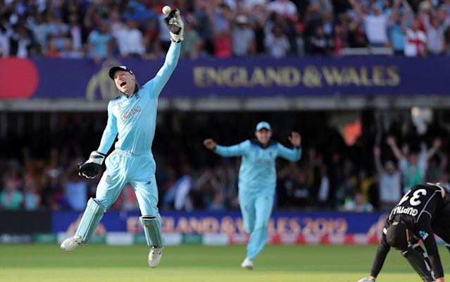After the most dramatic of climaxes, England won the World Cup when Jos Buttler ran out Martin Guptill on Sunday evening - AP