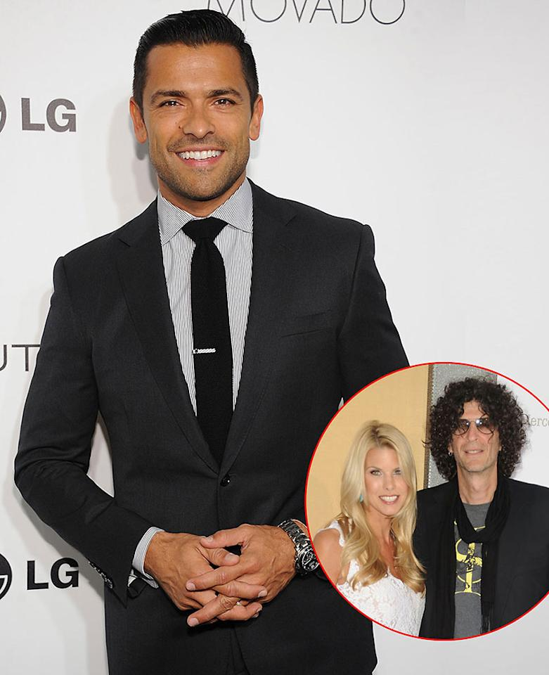 Mark Consuelos/ Beth Ostrosky Stern and Howard Stern