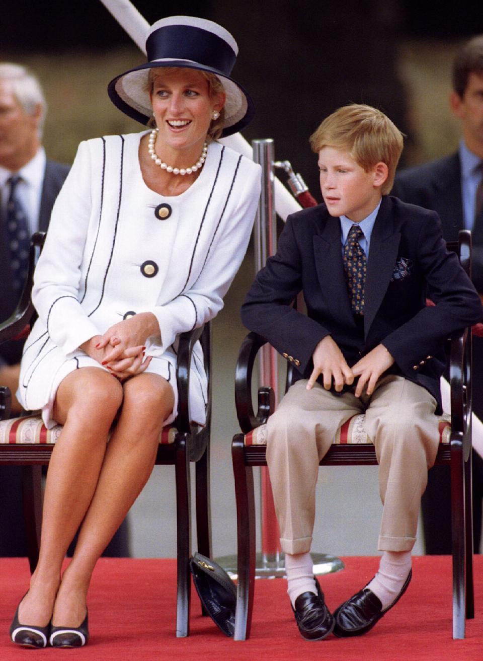 Diana, Princess of Wales and her son Prince Harry, depicted in 1995, had a close relationship. (Photo: Getty Images)