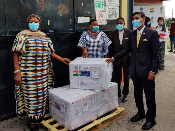 Indian-made COVID-19 vaccines arrive in Namibia (Photo Credit: Twitter/ S Jaishankar)