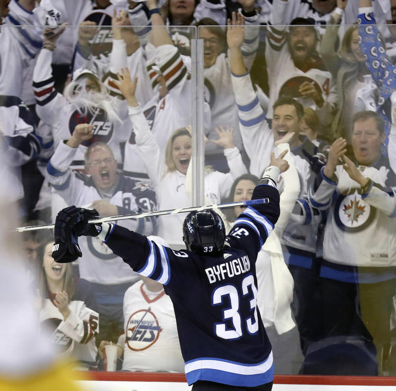 sneakers for cheap 225b1 a6073 Winning in Winnipeg: Jets fans unleash their support