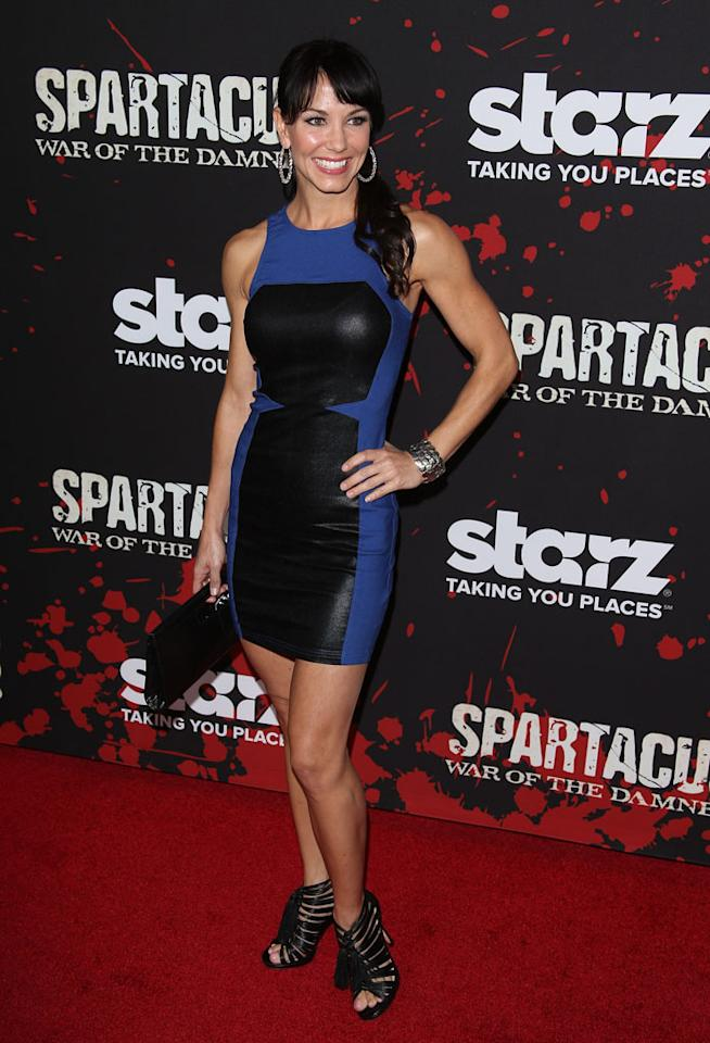 "Amie Barsky attends the premiere of Starz's ""Spartacus: War of the Damned"" at Regal Cinemas L.A. Live on January 22, 2013 in Los Angeles, California."