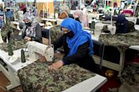 A factory in Kabul employs dozens of women widowed by the Afghan war
