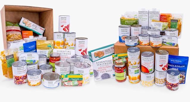 Waitrose launches £25 food box designed to feed an adult for a week. (Waitrose & Partners)