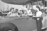 <p>Being a server at drive-in restaurants was <em>the</em> job for teenagers during 1945.</p>