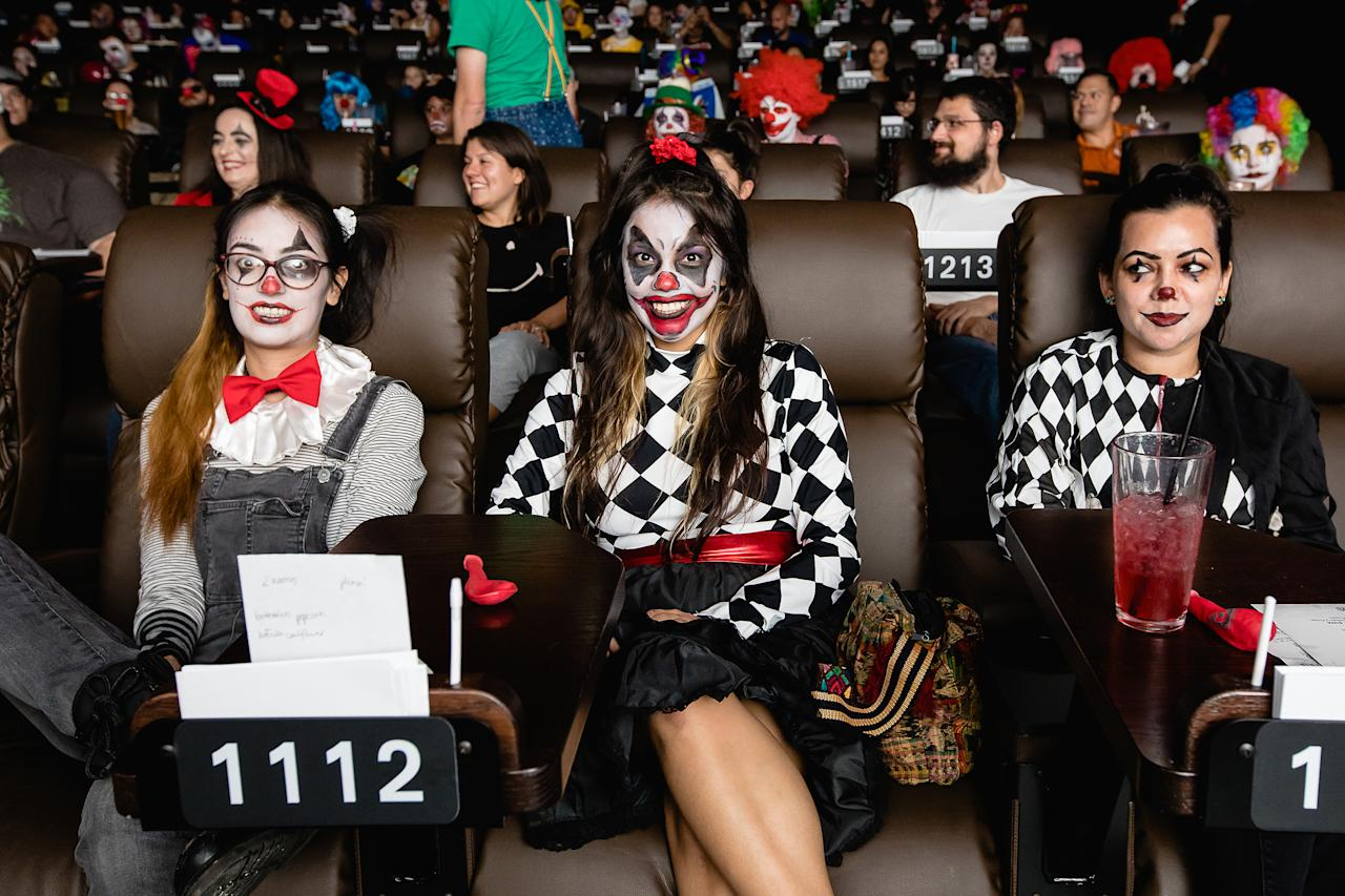 <p>Clowns-only screening of IT at The Alamo Drafthouse Cinema in Austin, Texas. / Photo by www.hlkfotos.com</p>