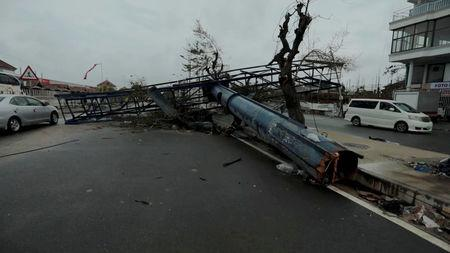 A general view shows destruction after Cyclone Idai in Beira