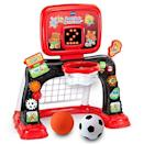 """<p><strong>VTech</strong></p><p>amazon.com</p><p><strong>$39.99</strong></p><p><a href=""""https://www.amazon.com/dp/B07NRXSYSD?tag=syn-yahoo-20&ascsubtag=%5Bartid%7C10055.g.5152%5Bsrc%7Cyahoo-us"""" rel=""""nofollow noopener"""" target=""""_blank"""" data-ylk=""""slk:Shop Now"""" class=""""link rapid-noclick-resp"""">Shop Now</a></p><p>Start your sporty toddler off with soccer <em>and</em> basketball with one toy. <strong>The set lights up and makes sounds</strong> while also keeping track of the baskets and goal on a light-up scoreboard. <em>Ages 1+</em></p>"""