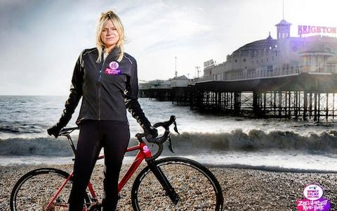 Hit the road: Zoe Ball rides from Blackpool to Brighton