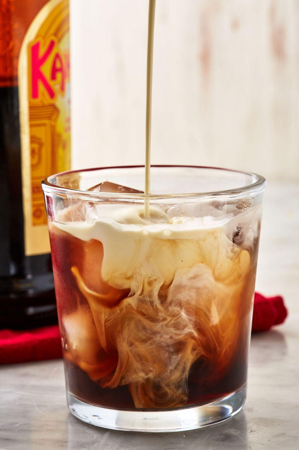 """<p>So simple to make but always a crowd pleaser.</p><p>et the recipe from <a href=""""https://www.delish.com/cooking/recipe-ideas/a29091466/white-russian-cocktail-recipe/"""" rel=""""nofollow noopener"""" target=""""_blank"""" data-ylk=""""slk:Delish"""" class=""""link rapid-noclick-resp"""">Delish</a>.</p>"""