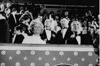 <p>President Richard Nixon and his wife, Patricia Nixon, attend the inaugural ball at the Natural Museum of American History in 1969. </p>
