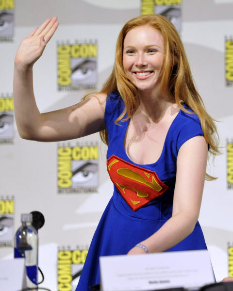 "Molly Quinn attends the ""Superman"" 75th Anniversary panel on Day 4 of the Comic-Con International on Saturday, July 20, 2013 in San Diego. (Photo by Chris Pizzello/Invision/AP)"