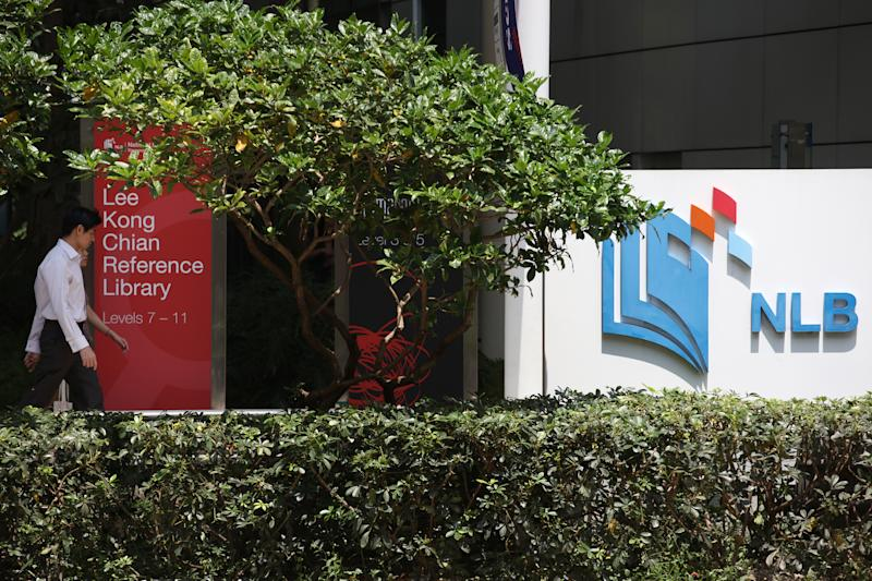 National Library Board (NLB) logo at the National Library building, North Bridge Road. (FILE PHOTO: Yahoo News Singapore)