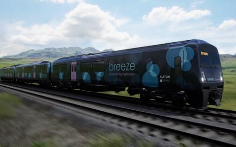 Hydrogen fuel cell trains Alstom
