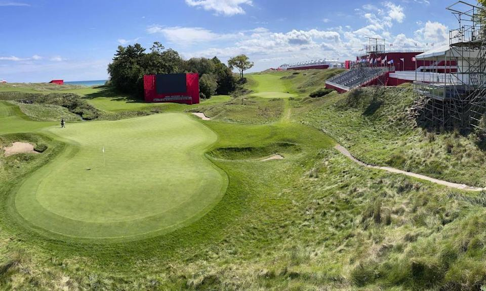 Whistling Straits in Wisconsin was created to imitate gold courses in Ireland