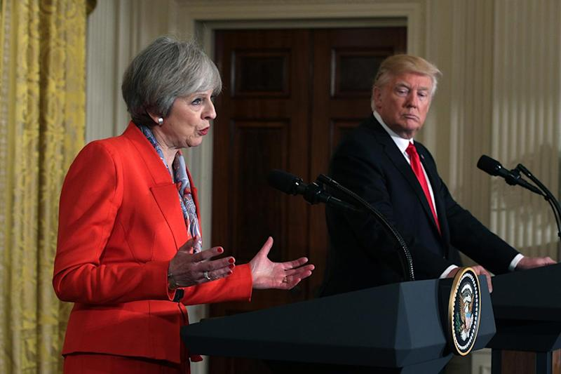 Theresa May and Donald Trump have agreed 'a window of opportunity' exists for Russia to withdraw its support of the Assad regime in Syria: Getty Images