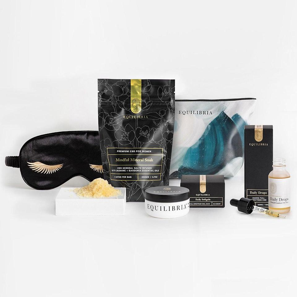 "<h2>Equilibria Joy of Sleep Gift Set</h2><br><a href=""https://www.refinery29.com/en-us/2020/04/9738566/cant-sleep-during-quarantine"" rel=""nofollow noopener"" target=""_blank"" data-ylk=""slk:COVID insomnia"" class=""link rapid-noclick-resp"">COVID insomnia</a> is a real thing, and this gift set can help your loved one outsmart it. Plus, 5% of sales from all of Equilibria's gift sets will go to <a href=""https://www.blackgirlventures.org/"" rel=""nofollow noopener"" target=""_blank"" data-ylk=""slk:Black Girl Ventures"" class=""link rapid-noclick-resp"">Black Girl Ventures</a>, an organization that helps fund businesses founded by Black and brown women.<br><br><strong>Equilibria</strong> Joy of Sleep Gift Set, $, available at <a href=""https://go.skimresources.com/?id=30283X879131&url=https%3A%2F%2Fmyeq.com%2Fproduct%2Fjoy-of-sleep-set%2F%3Fconvert_to_sub_1902506"" rel=""nofollow noopener"" target=""_blank"" data-ylk=""slk:Equilibria"" class=""link rapid-noclick-resp"">Equilibria</a>"