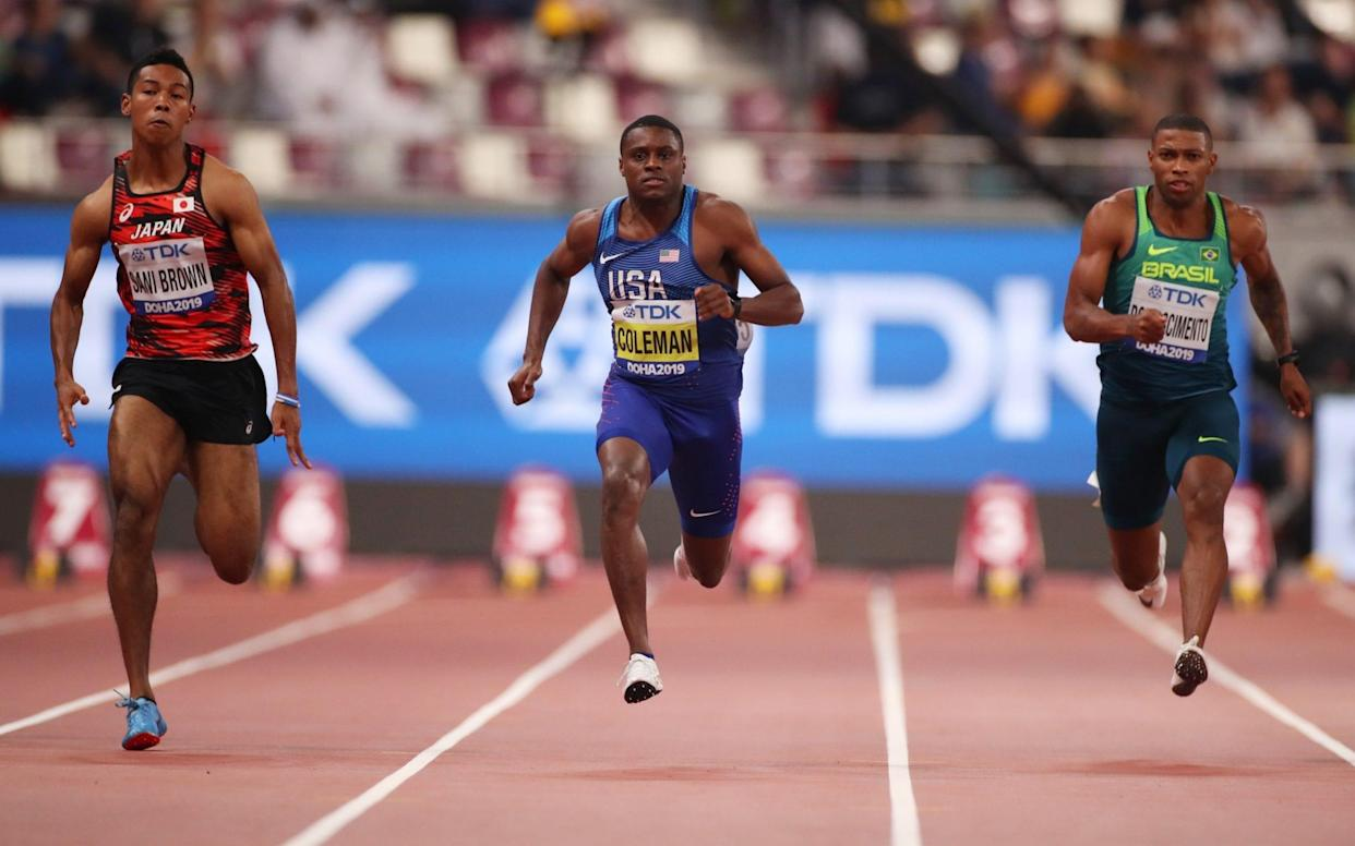 Christian Coleman eases through the heats of the men's 100m - Getty Images Europe