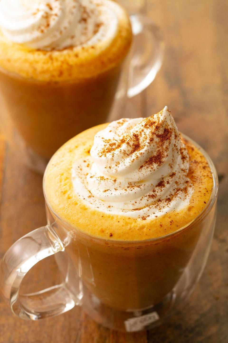"""<p>Now you can drink one any time of year!</p><p>Get the recipe from <a href=""""https://www.delish.com/cooking/recipe-ideas/a21972026/pumpkin-spice-latte-recipe/"""" rel=""""nofollow noopener"""" target=""""_blank"""" data-ylk=""""slk:Delish"""" class=""""link rapid-noclick-resp"""">Delish</a>.</p>"""