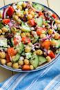 """<p>For any picnic, potluck, or summer cookout, THIS is the salad that people will demand a recipe for. It's perfect.</p><p>Get the recipe from <a href=""""https://www.delish.com/cooking/recipe-ideas/a19885314/mediterranean-chickpea-salad-recipe/"""" rel=""""nofollow noopener"""" target=""""_blank"""" data-ylk=""""slk:Delish"""" class=""""link rapid-noclick-resp"""">Delish</a>. </p>"""