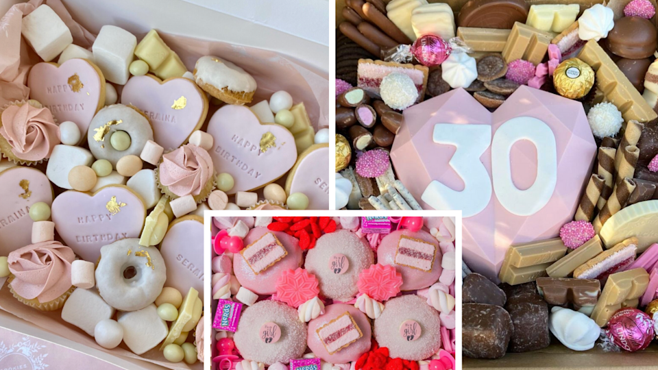 Dessert boxes are a lockdown trend we're definitely here for.