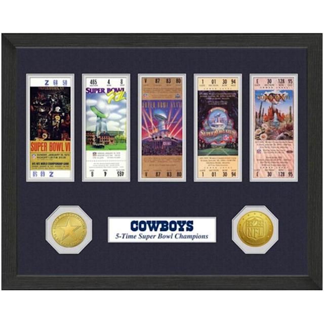 Dallas Cowboys Super Bowl Replica Ticket Collection Wall Frame