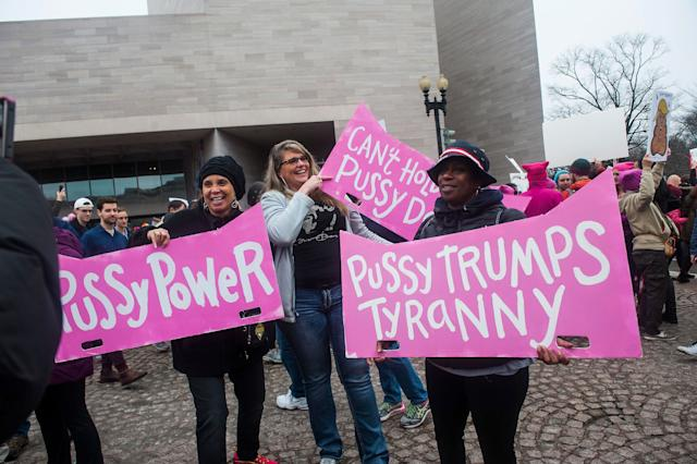 WASHINGTON, DC. - JAN. 21: Organizers put the Women's March on Washington in Washington D.C. on Saturday Jan. 21, 2017. (Photo by Alanna Vagianos, Huffington Post) *** Local Caption ***