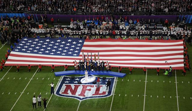 FILE PHOTO: Recording artist Pink sings the National Anthem before Super Bowl LII between the New England Patriots and the Philadelphia Eagles in Minneapolis, Minnesota, U.S., Febuary 4, 2018. Mandatory Credit: Richard Mackson-USA TODAY Sports/File Photo