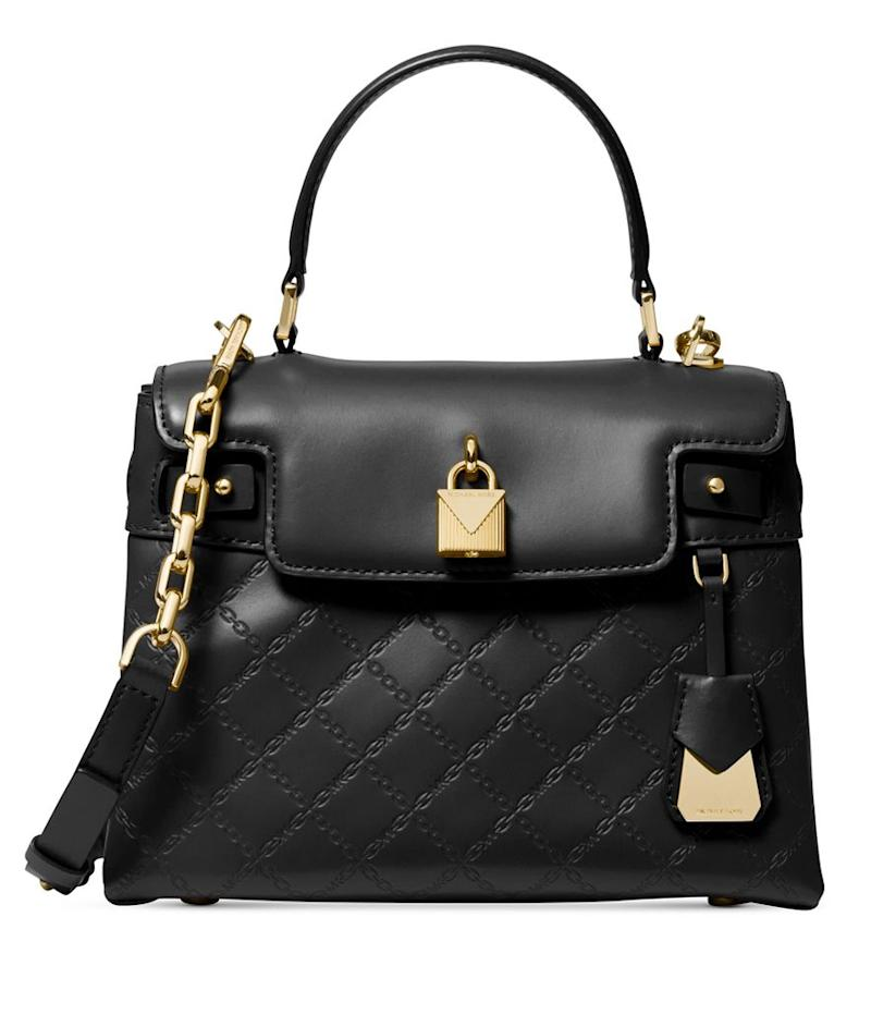 e5f561923aa8 Michael Michael Kors Gramercy Chain Embossed Leather top Handle Bags  (Photo: Macy's)