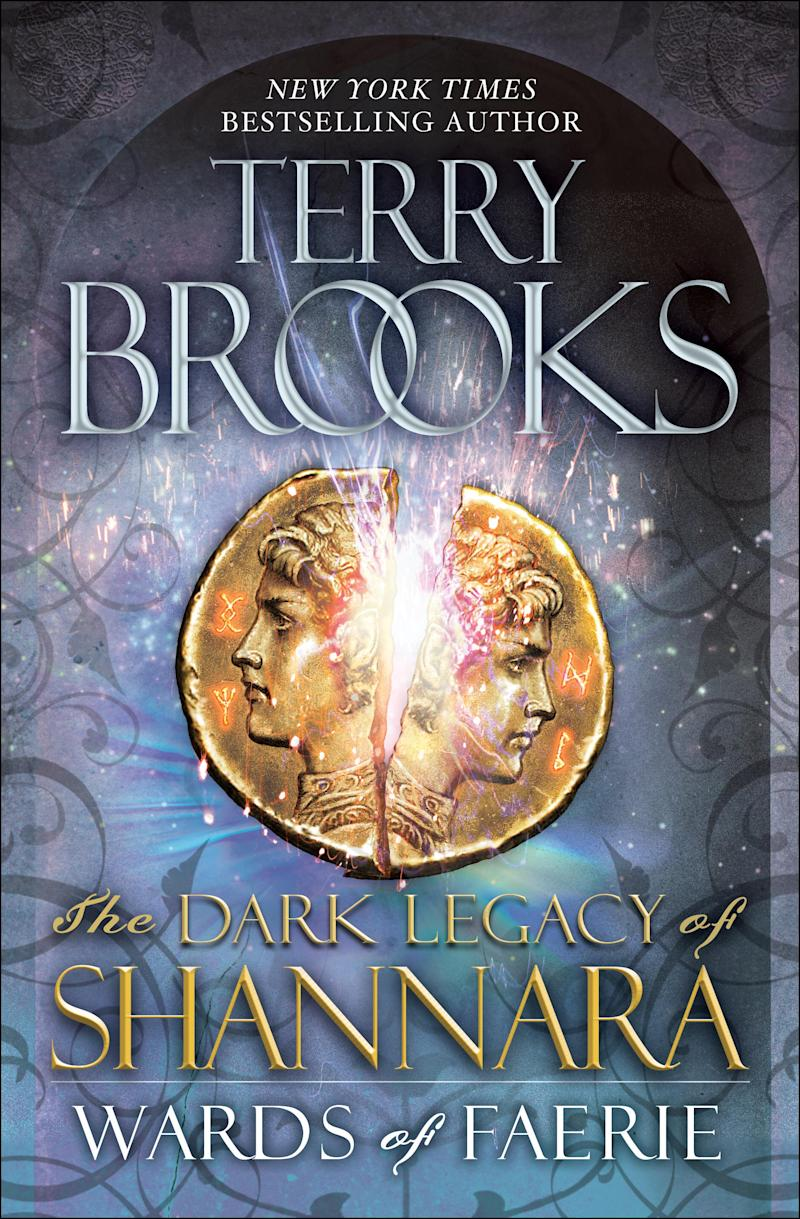"""This book cover image released by Ballantine Del Rey shows """"Wards of Faerie: The Dark Legacy of Shannara""""  by Terry Brooks. (AP Photo/Ballantine Del Rey)"""