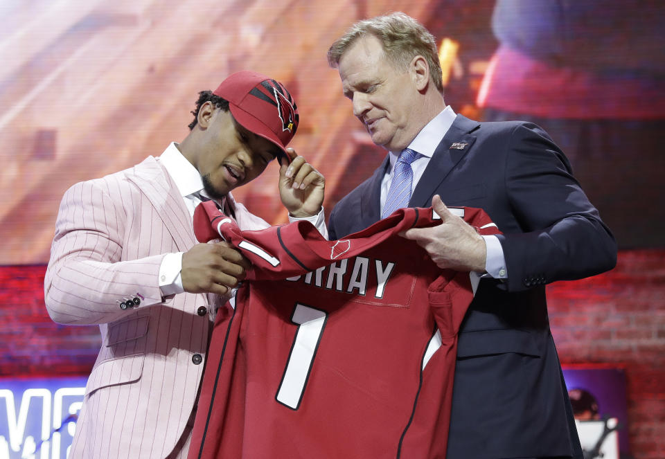 Kyler Murray was the first overall pick of last year's draft. (AP Photo/Mark Humphrey)