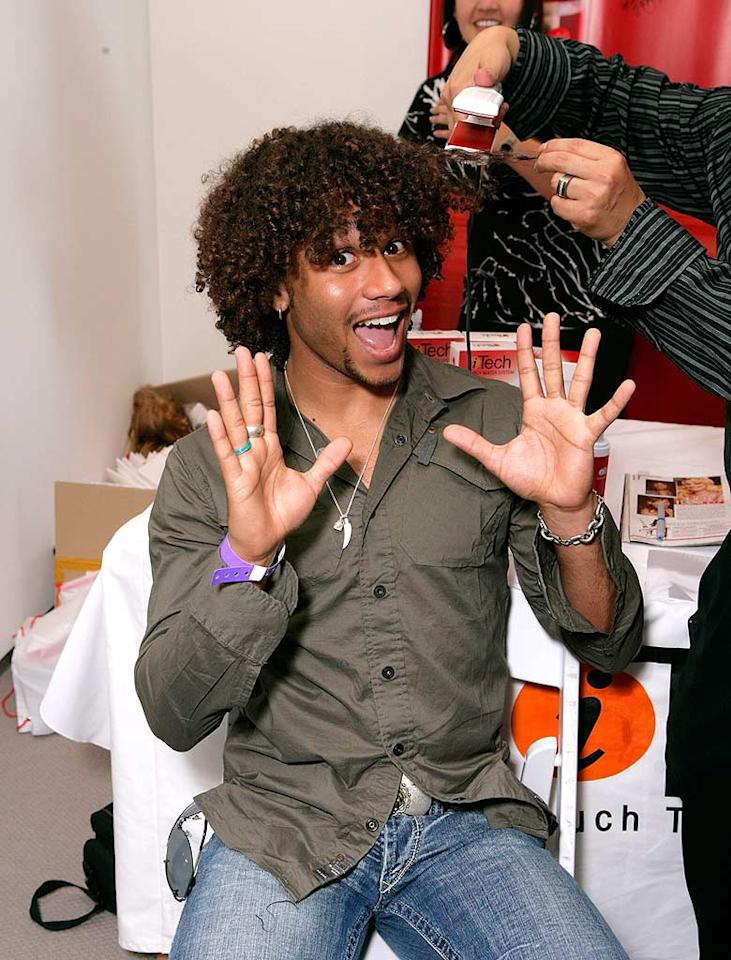 "Apparently, a lavender bracelet entitles you to free stuff. ""High School Musical's"" Corbin Bleu is taking full advantage! Todd Williamson/<a href=""http://www.wireimage.com"" target=""new"">WireImage.com</a> - September 13, 2007"