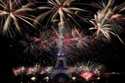There is a spectacular fireworks display in the evening