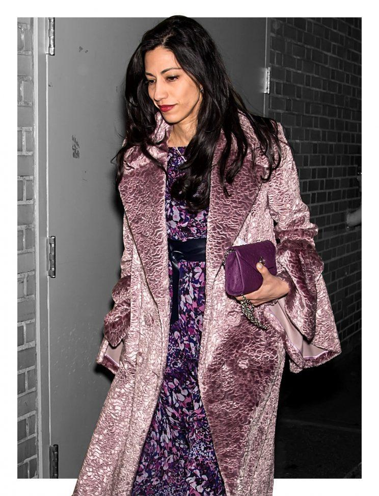 Political figure Huma Abedin hit a fashion show. (Photo by Gilbert Carrasquillo/GC Images)