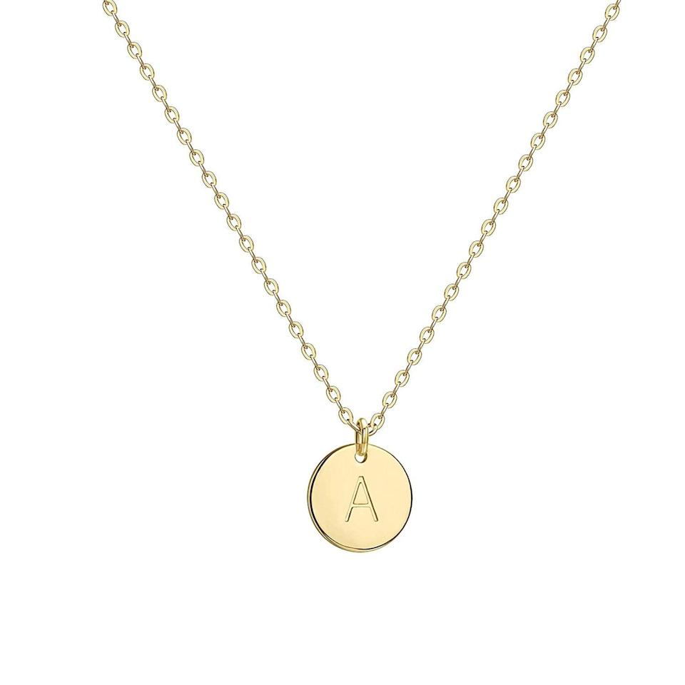 <p>The <span>Befettly Initial Necklace</span> ($12) will look good with a plunging neckline.</p>