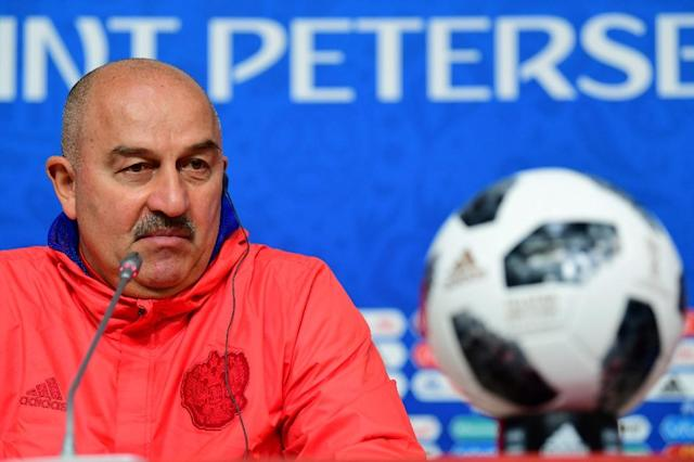 Russia's coach Stanislav Cherchesov says he knows how to stop Mohamed Salah (AFP Photo/Giuseppe CACACE)