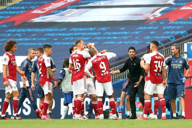 Arsenal rallied following the drinks break in the first half