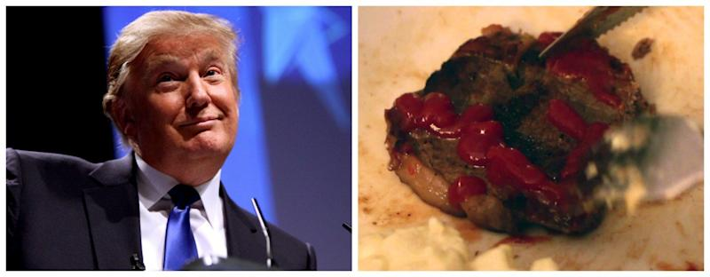 Image result for trump and steak