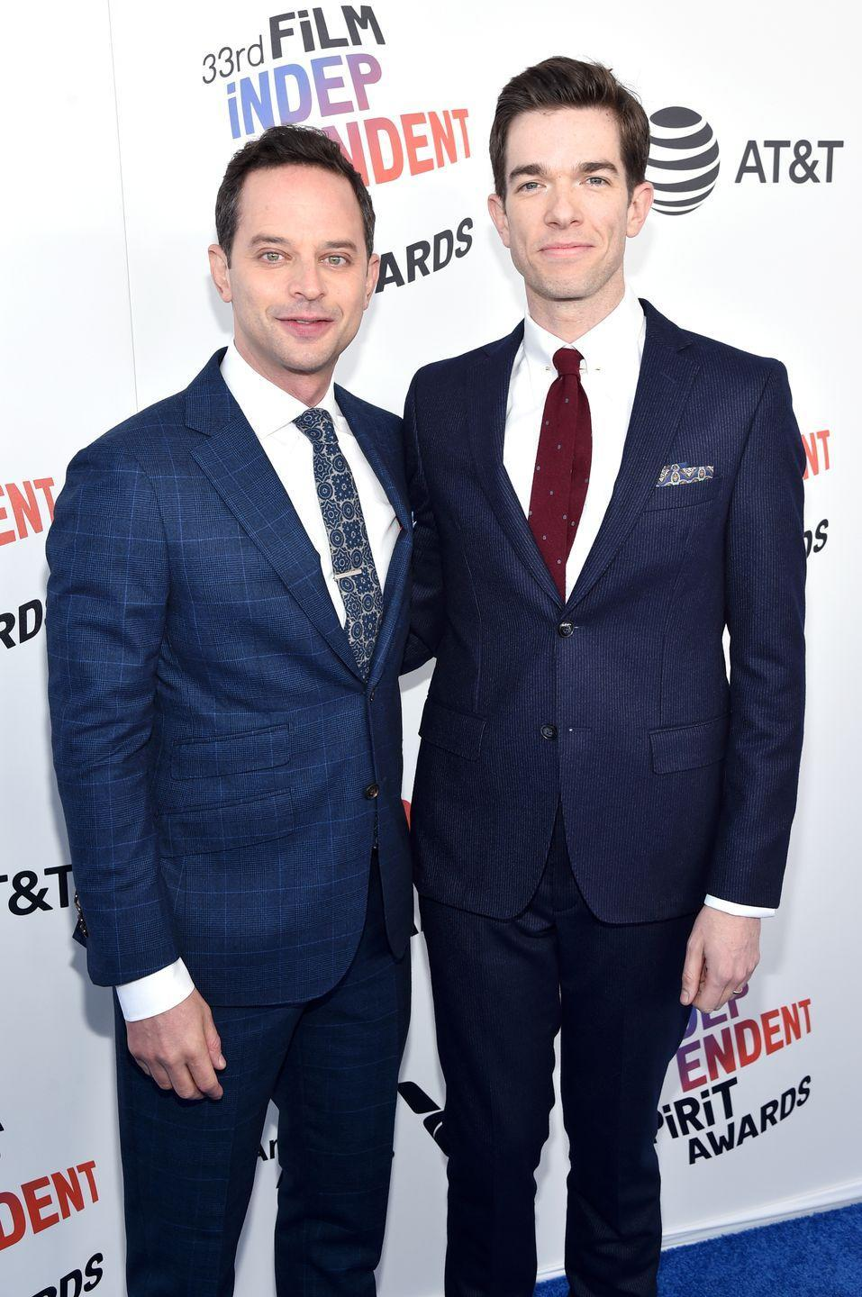 "<p>Fellow funnymen Nick Kroll and John Mulaney linked up while attending Georgetown University in 2000; Kroll was the upperclassman responsible for recruiting Mulaney into the hallowed Georgetown Improv Association. </p><p>When Kroll met Mulraney, he just knew that there was something special about him. ""Honestly when I met him, I was like, this guy's so funny, I'm going to hold on tight,"" Kroll told <em><a href=""https://www.washingtonpost.com/news/arts-and-entertainment/wp/2017/11/01/a-failed-sitcom-could-end-your-career-for-john-mulaney-it-was-just-the-beginning/"" rel=""nofollow noopener"" target=""_blank"" data-ylk=""slk:The Washington Post"" class=""link rapid-noclick-resp"">The Washington Post</a></em>. ""I've sufficiently done that for a long time,"" Kroll says. Their friendship has since grown into what many would describe as a lifetime professional partnership, leading the comedians to work together on numerous projects such as the beloved ""Oh, Hello Show"" on Kroll's Comedy Central series (which later turned into a Broadway show) as well as Netflix's adult animated comedy <em>Big Mouth</em>. </p>"