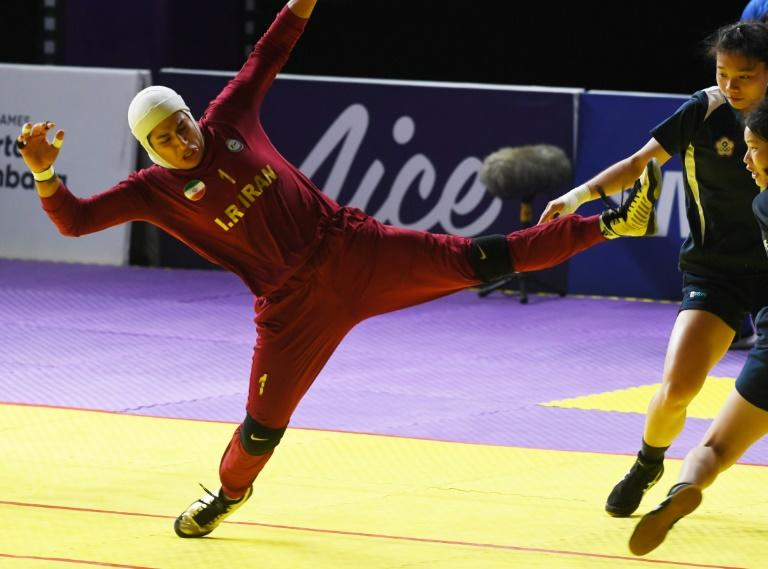 Ghazal Khalaj and her fellow Iranian female kabaddi stars take a no-holds-barred approach, tagging opponents with high kicks and celebrating each victory with a guttural group roar