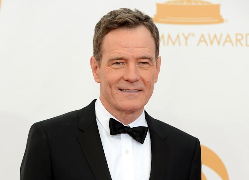 """FILE - This Sept. 22, 2013, file photo, shows Bryan Cranston at the 65th Primetime Emmy Awards at Nokia Theatre in Los Angeles. Cranston will narrate the docuseries, """"Big History"""" which pledges to reveal """"one grand unified theory"""" for how every event in history (13.7 billion years of it) is intertwined by science. (Photo by Jordan Strauss/Invision/AP, File)"""