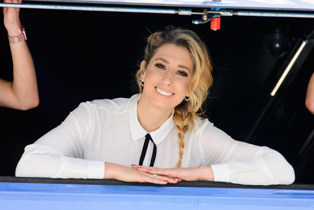 Stacey Solomon has revealed she is having 'weird' thoughts about leaving the house with her newborn [Photo: Getty]