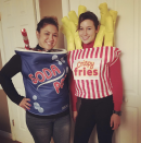 """<p>Take us out to the ballgame this Halloween by wearing two of your favorite concession stand snacks. You can also dub out the bulky costume for a t-shirt.</p><p><a class=""""link rapid-noclick-resp"""" href=""""https://www.amazon.com/Cola-Can-Halloween-Costume-Unisex/dp/B08HPM7K34/?tag=syn-yahoo-20&ascsubtag=%5Bartid%7C10072.g.27868790%5Bsrc%7Cyahoo-us"""" rel=""""nofollow noopener"""" target=""""_blank"""" data-ylk=""""slk:Shop Soda Costume"""">Shop Soda Costume</a><br><br><a class=""""link rapid-noclick-resp"""" href=""""https://www.amazon.com/Rasta-Imposta-Unisex-Costume-Halloween/dp/B0741FZDT3?tag=syn-yahoo-20&ascsubtag=%5Bartid%7C10072.g.27868790%5Bsrc%7Cyahoo-us"""" rel=""""nofollow noopener"""" target=""""_blank"""" data-ylk=""""slk:Shop French Fry Costume"""">Shop French Fry Costume</a></p>"""
