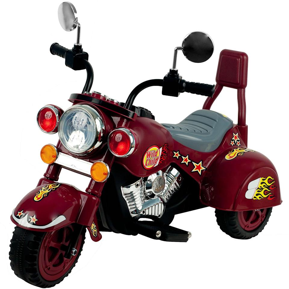 <p>Biker baby! They'll never want to get off this battery-powered <span>Lil' Rider 3 Wheel Chopper Trike Motorcycle For Kids</span> ($102).</p>