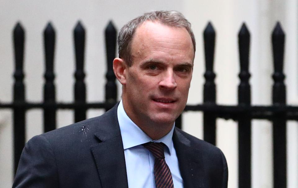 Britain's Foreign Secretary Dominic Raab is seen outside Downing Street in London, Britain, September 4, 2019. REUTERS/Hannah McKay